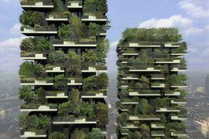 Die Visualisierung ebenso wie das Modell vermitteln einen Eindruck, wie die Fassade in Jahren aussehen kann
