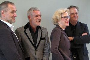 Das neue Präsidium nach der Wahl (v. l.): Joachim Brenncke, Ralf Niebergall, Barbara Ettinger-Brinckmann und Martin Müller