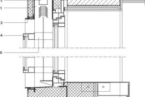 Vertikaler Fassadenschnitt, M 1:12,5