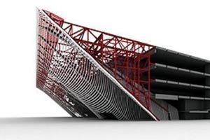 """Alle 14309 individuelle Teile des """"Holzpuzzels"""" sind auf computergesteuerten Maschinen produziert, basierend auf Informationen aus dem detaillierten parametrischen CAD-Modell<br />"""
