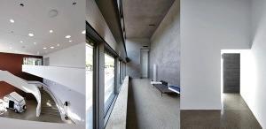 Außenansicht, Calder-Saal mit Spirale, Loggia mit Maschsee-Blick, Zugang zur Loggia, Ausstellungsräume mit Tageslichtdecken