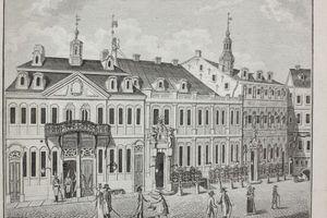 Ein alter Kupferstich des Rathaus