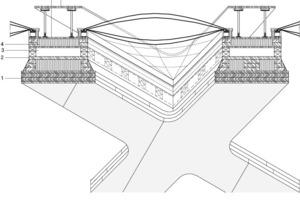 Detail Dachaufbau, M 1:50