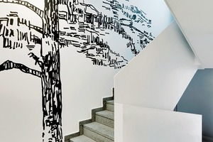 Der Entwurf für die Treppenhausgestaltung stammt von Antje Schiffers