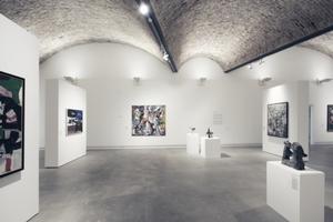 Der obere Ausstellungsraum wurde mit einer Kappendecke geschlossen (Ziegelschale, Ortbetonschichte als Druckmasse, Dachpappe)