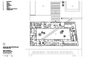Grundriss Erdgeschoss Bürogebäude