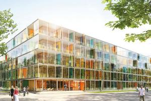 Wettbewerb Ackermannbogen München, Boardinghouse