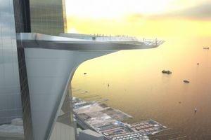 Sicherlich recht windig: In der 157. Etage ist die höchste Aussichtsplattform der Welt geplant
