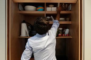 Küche, geöffnet