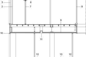 Fassadenschnitt Eingangsbereich, M 1:100<br />