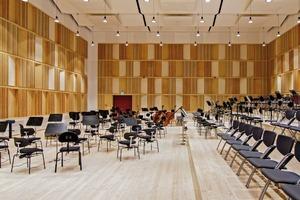 Der Orchestersaal wird nur für Proben genutzt ist also nicht öffentlich zugänglich