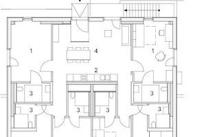 Regelgeschoss Haus 2, M 1:250