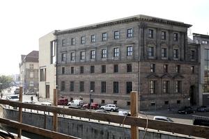 Zukünftiger Blick von der Terrasse der Galerie auf das Eckhaus, Galerie am Kupfergraben, von David Chipperfield