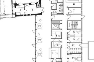 Grundriss Erdgeschoss Altbau, M 1:500