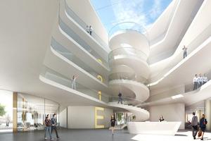 Visualisierung des Innenraums, Landratsamt in Erlangen