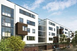 Neben familiengerechten Stadthäusern mit Dachterrassen entstehen komfortable Miet- und Eigentumswohnungen mit fließenden Übergängen zwischen Außen und Innen<br />