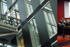 Anwesend beim DBZ+BAUcolleg am Rhein: zahlreiche Zuhörer und Wanders-Design im detailreichen Kameha Grand<br />