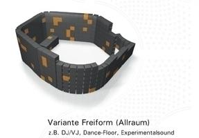 "Ton-Raum-Architektur mit ""Akustik Modul"" Variante 2"