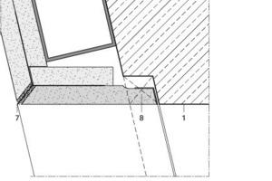 Detailpunkt, spitzwinkelige Türleibung, 1, M 1:2,5<br />