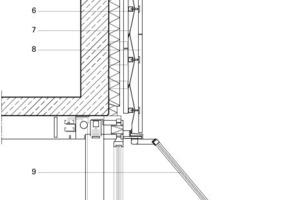 Fassadenschnitt, M 1:40<br />