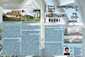 """Das LichtAktiv Haus basiert auf einem Entwurf von Katharina Fey (im: DER ENTWURF; S. 8, """"Erstwerk"""""""