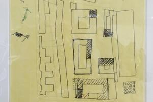 """""""Charta"""" von Berlin: teilnehmende Architekten setzten ihre Unterschrift auf den geplanten, grob skizzierten Lageplan"""