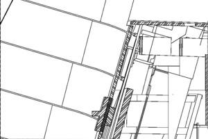 Detail, M 1:15 Anschlusspunkt
