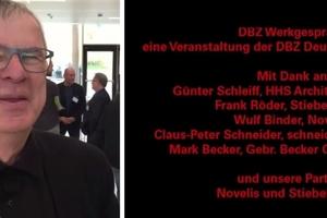 Mit Günter Schleiff von HHS Architekten im Gespräch