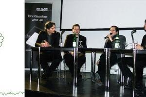 """Angeregte Podiumsdiskussion zum Thema """"Vertical Living – Wohnhochhäuser"""" auf dem 4. JUNG Architekturgesprächen im Februar 2009 in Hamburg<br />"""