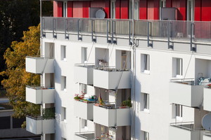 Durch die Aufstockung sind 63 geförderte Wohnungen neu entstanden. Insgesamt umfasst die Wohnanlage nach der Modernisierung, der Aufstockung und dem Neubau 147 Wohnungen sowie einen zusätzlichen Gemeinschaftsraum