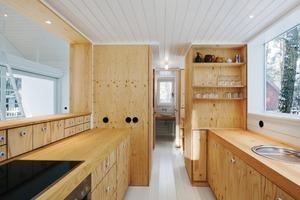 Die Möbel wurden komplett aus Kiefernsperrholz bzw. die Arbeitsplatte aus Kiefernmassivholz gefertigt<br />