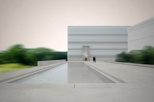 Außenansicht des Bauhaus Museums
