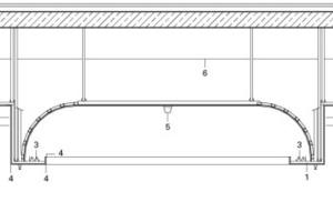 Detail Schnitt Decke, M 1:50<br />