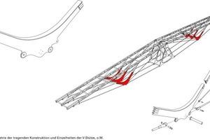 Axonometrie der Tragstruktur, o.M.