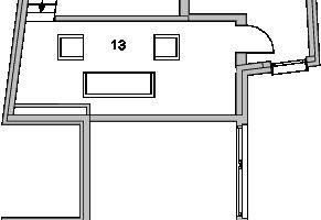 Grundriss Dachgeschoss, M 1:200