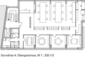Grundriss 4. Obergeschoss, M 1:333 <sup>1</sup>/3