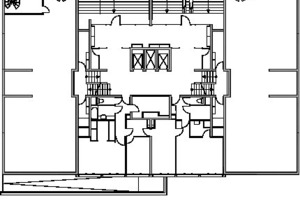 Grundriss Erdgeschoss Bestand, M 1:400