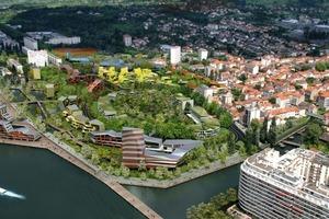 Les Rives d'Allier, Städtebaustudie für das Quartier du Stade Darragon, Vichy/F, in Entwicklung<br />
