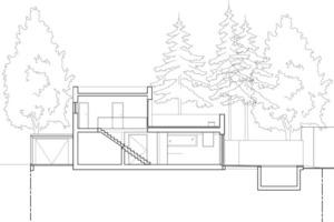 Schnitt Villa White<br />