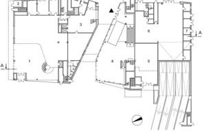 Grundriss Ebene 0, M 1:750<br />
