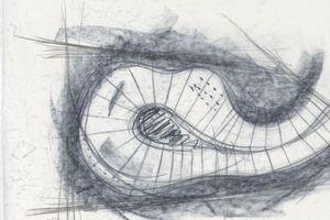 Entwurfsskizze für die Bruder Klaus Kapelle