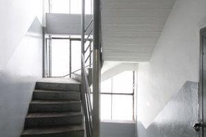 Treppenhaus mit asymmetrischem Grundriss