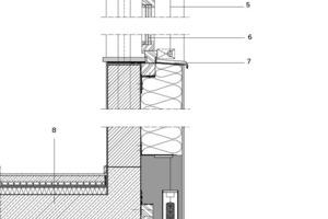 Fassadenschnitt, M 1:25