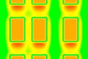 Fassadenausschnitt als Thermografie