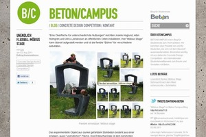 Homepage des Beton Blogs<br />