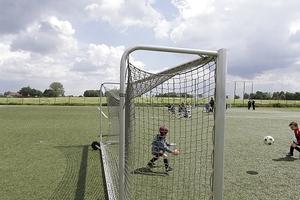 Sport ist überall möglich: in der Provinz auf Kunstrasen, ...