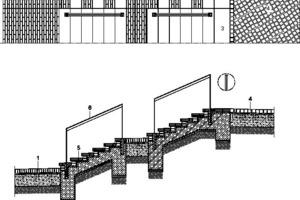 Treppendetail Eingangsplatz Habersaathstraße, M 1:75