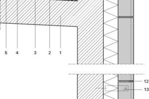Fassadenschnitt, M 1:20<br />