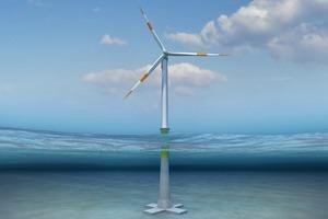 Entwurf einer Offshore-Windkraftanlage