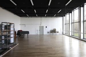 Probenraum im Wolfsburger Stadttheater. Der für die Öffentlichkeit nicht zugängliche Raum oberhalb der Bühne ist der Ort des Vortrags am 22. Juni 2016